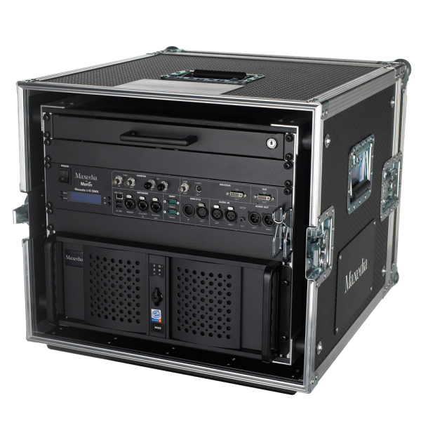Video  Medienserver Maxedia PRO, inkl. I/O Box, ELO Touchscreen, Flightcase