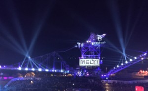 Melt-Splash 2015-Ferropolis-Video-Licht-Traversen